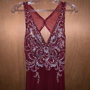 Red sequined Prom dress only worn once!!!